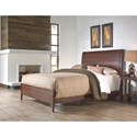 Fashion Bed Group Metal Beds Queen Industrial Rockland Metal Ornamental Bed with Brass Studs