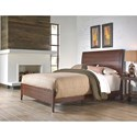 Morris Home Furnishings Metal Beds California King Industrial Rockland Metal Ornamental Bed with Brass Studs