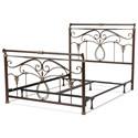 Morris Home Metal Beds Full Lucinda Bed w/ Frame - Item Number: B11834