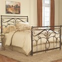 Fashion Bed Group Metal Beds Full Lucinda Bed w/ Frame