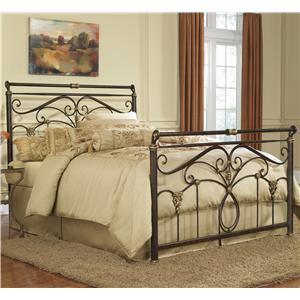 Morris Home Furnishings Metal Beds Queen Lucinda Bed w/ Frame
