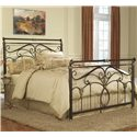 Fashion Bed Group Metal Beds Queen Lucinda Bed w/ Frame  - Item Number: B11835