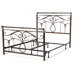 Fashion Bed Group Metal Beds King Lucinda Bed w/ Frame