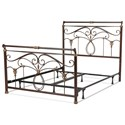 Fashion Bed Group Metal Beds King Lucinda Bed w/ Frame - Item Number: B11836