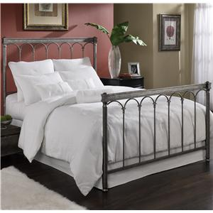 Morris Home Furnishings Metal Beds Queen Romano Bed