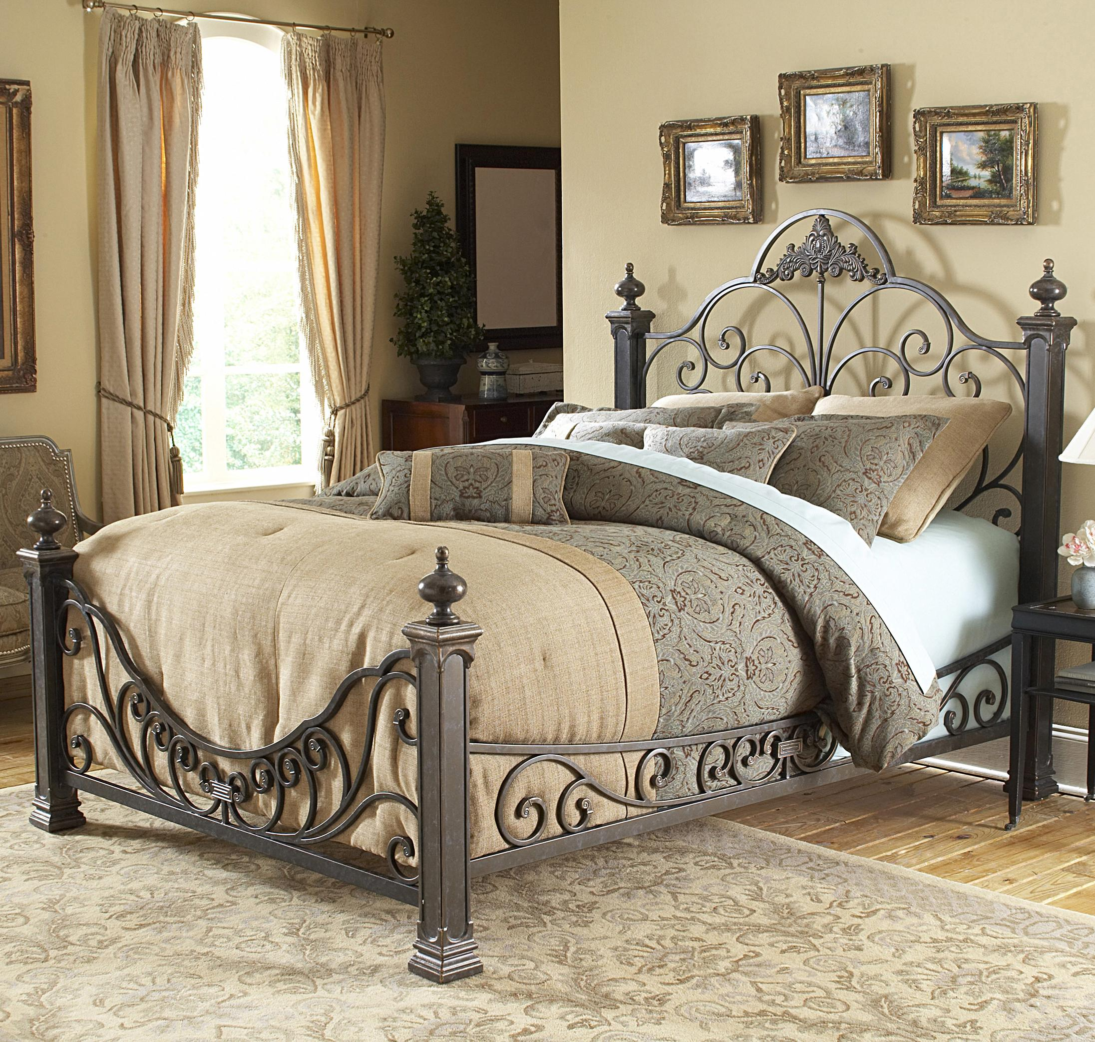 Fashion Bed Group Metal Beds California King Baroque
