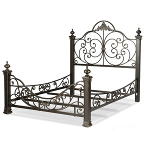Queen Baroque Metal Bed