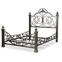 Fashion Bed Group Metal Beds King Baroque Metal Bed  - Item Number: B11896