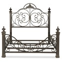 Fashion Bed Group Metal Beds California King Baroque Metal Bed