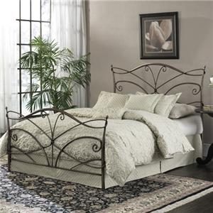 Morris Home Furnishings Metal Beds Queen Papillon Bed