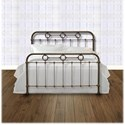 Fashion Bed Group Metal Beds Queen Transitional Madera Metal Ornamental Bed