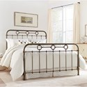 Morris Home Furnishings Metal Beds King Transitional Madera Metal Ornamental Bed - Bed Shown May Not Represent Size Indicated
