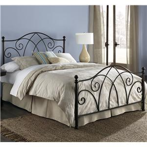 Morris Home Furnishings Metal Beds Queen Deland Bed