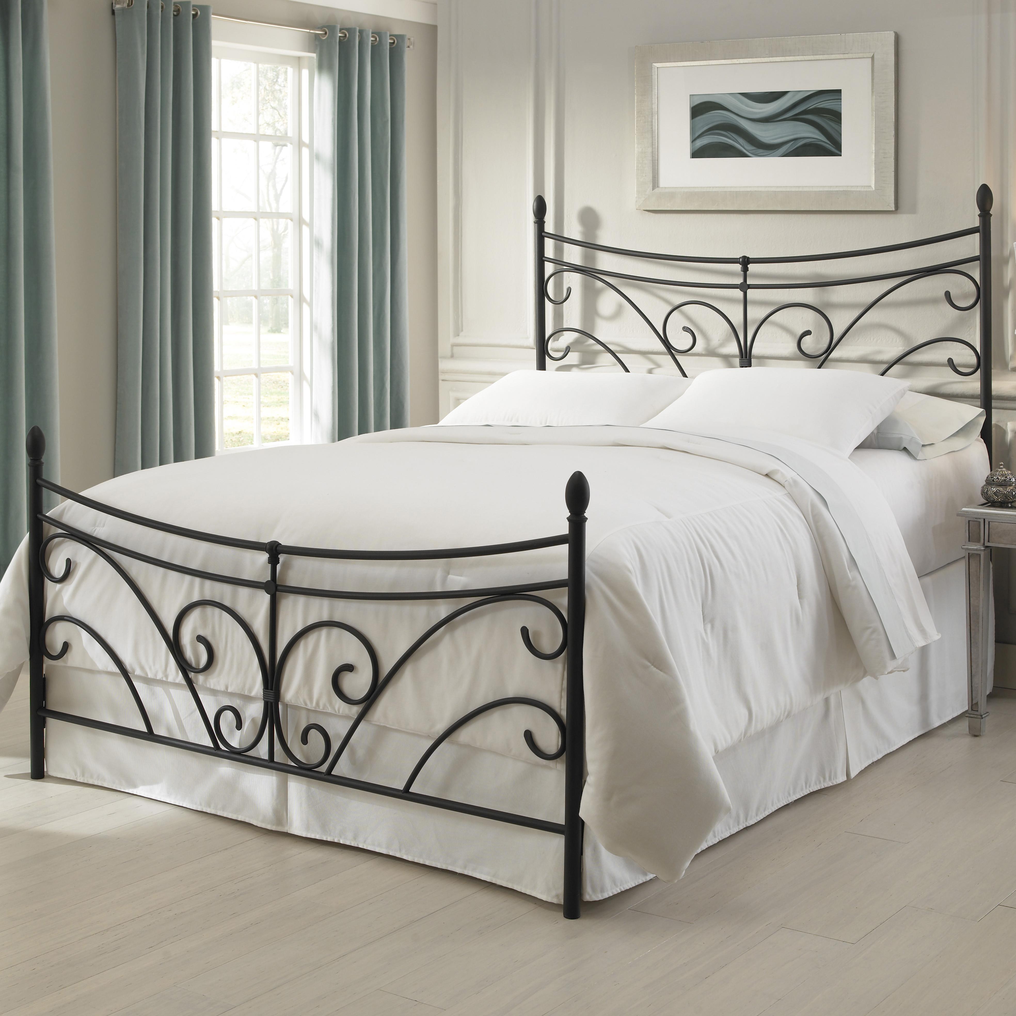 fashion bed group metal beds queen bergen bed w frame ahfa headboard footboard dealer locator - Iron Bed Frames Queen