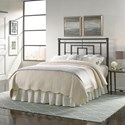 Fashion Bed Group Metal Beds California King Sheridan Metal Headboard with Squared Tubing and Geometric Design