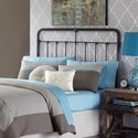 Fashion Bed Group Metal Beds Fairfield Claifornia King Metal Headboard with Spindles and Castings