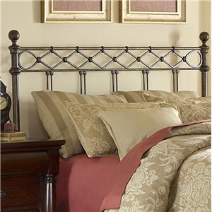 Fashion Bed Group Metal Beds Queen Argyle Headboard