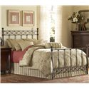 Fashion Bed Group Metal Beds Queen Argyle Headboard - Headboard Shown in Bed Setting