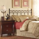 Morris Home Furnishings Metal Beds California King Transitional Argyle Metal Headboard
