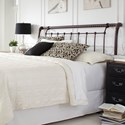 Fashion Bed Group Metal Beds California King Legion Metal Headboard with Sleigh Design and Twisted Rope Top Rail
