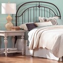 Fashion Bed Group Metal Beds King Transitional Cascade Metal Headboard