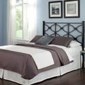 Morris Home Furnishings Metal Beds Queen Contemporary Marlo Metal Headboard