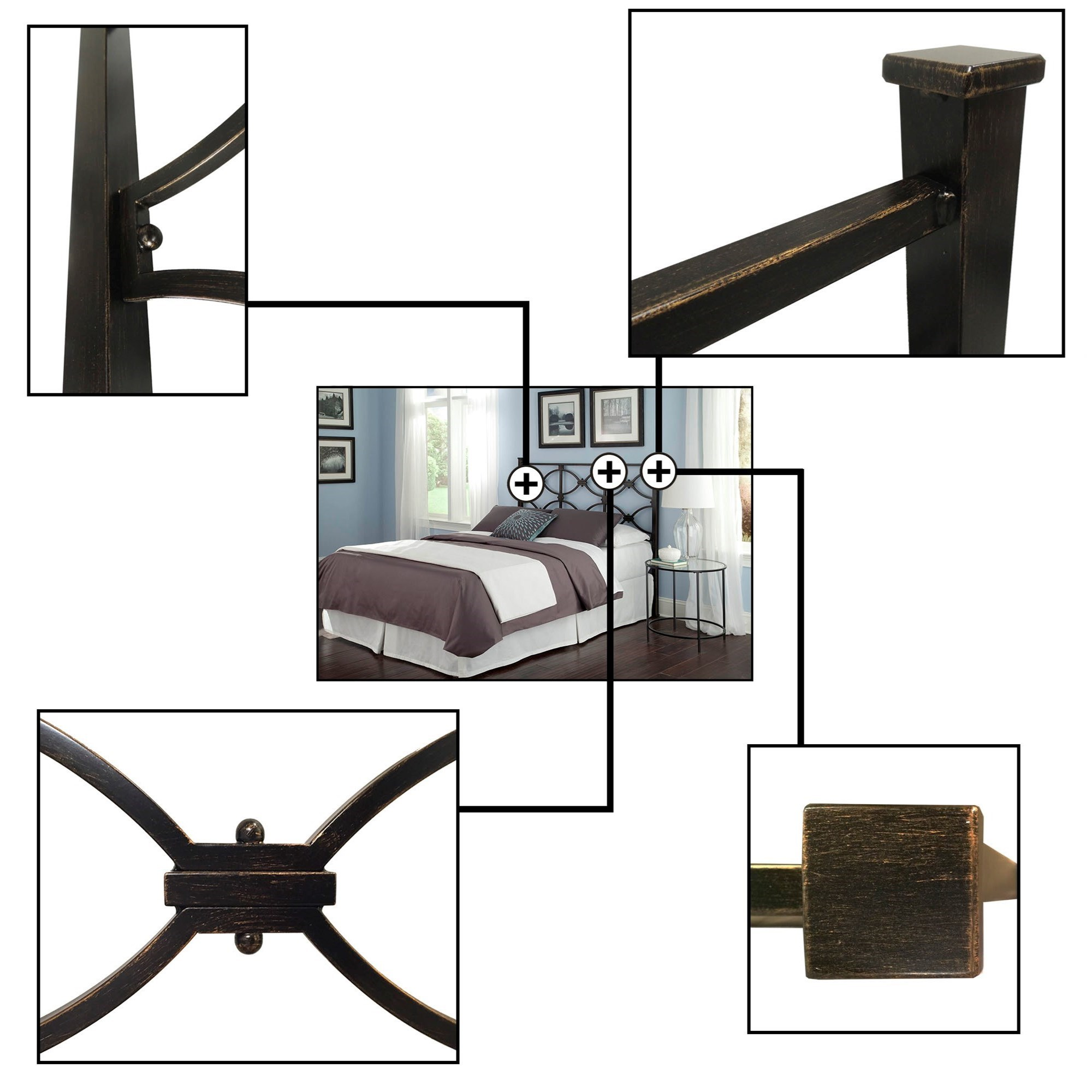 Fashion Bed Group Metal Beds King Contemporary Marlo Metal Headboard Zak S Fine Furniture