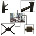 Fashion Bed Group Metal Beds King Contemporary Marlo Metal Headboard