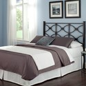 Fashion Bed Group Metal Beds Cal King Contemporary Marlo Metal Headboard