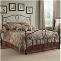 Fashion Bed Group Metal Beds Queen Sylvania Headboard  - Headboard Shown in Bed Setting
