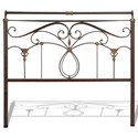 Fashion Bed Group Metal Beds Cal King Metal Headboard - Item Number: B12837