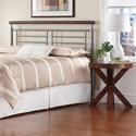Morris Home Furnishings Metal Beds California King Modern Fontane Metal Headboard