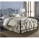 Morris Home Furnishings Metal Beds Queen Deland Headboard w/ Finials - Shown as Bed
