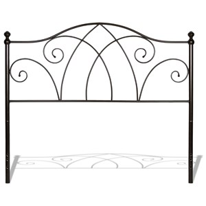 Fashion Bed Group Metal Beds King Deland Headboard