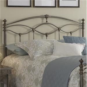 Fashion Bed Group Metal Beds King Genoa Headboard