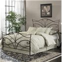 Fashion Bed Group Metal Beds Queen Papillon Duo Panel  - Shown as Full Bed