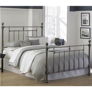 Morris Home Furnishings Metal Beds Queen Heritage Bed without Frame