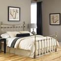 Fashion Bed Group Metal Beds California King Traditional Leighton Metal Ornamental Bed