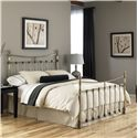 Fashion Bed Group Metal Beds Full Leighton Headboard w/ Tear Drop Finials - Shown as Bed