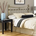Fashion Bed Group Metal Beds Queen Leighton Headboard w/ Tear Drop Finials