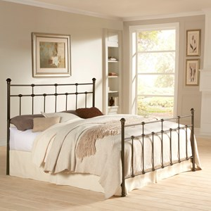 Fashion Bed Group Metal Beds King Dexter Headboard and Footboard