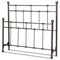 Fashion Bed Group Metal Beds Cal King Headboard and Footboard - Item Number: B40147