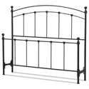 Fashion Bed Group Metal Beds King Sanford Headboard and Footboard - Item Number: B40446