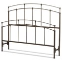 Fashion Bed Group Metal Beds Cal King Fenton Headboard and Footboard - Item Number: B40757