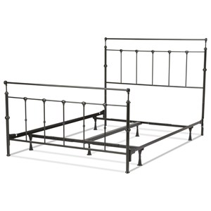 Morris Home Furnishings Metal Beds Cal King Metal Ornamental Bed