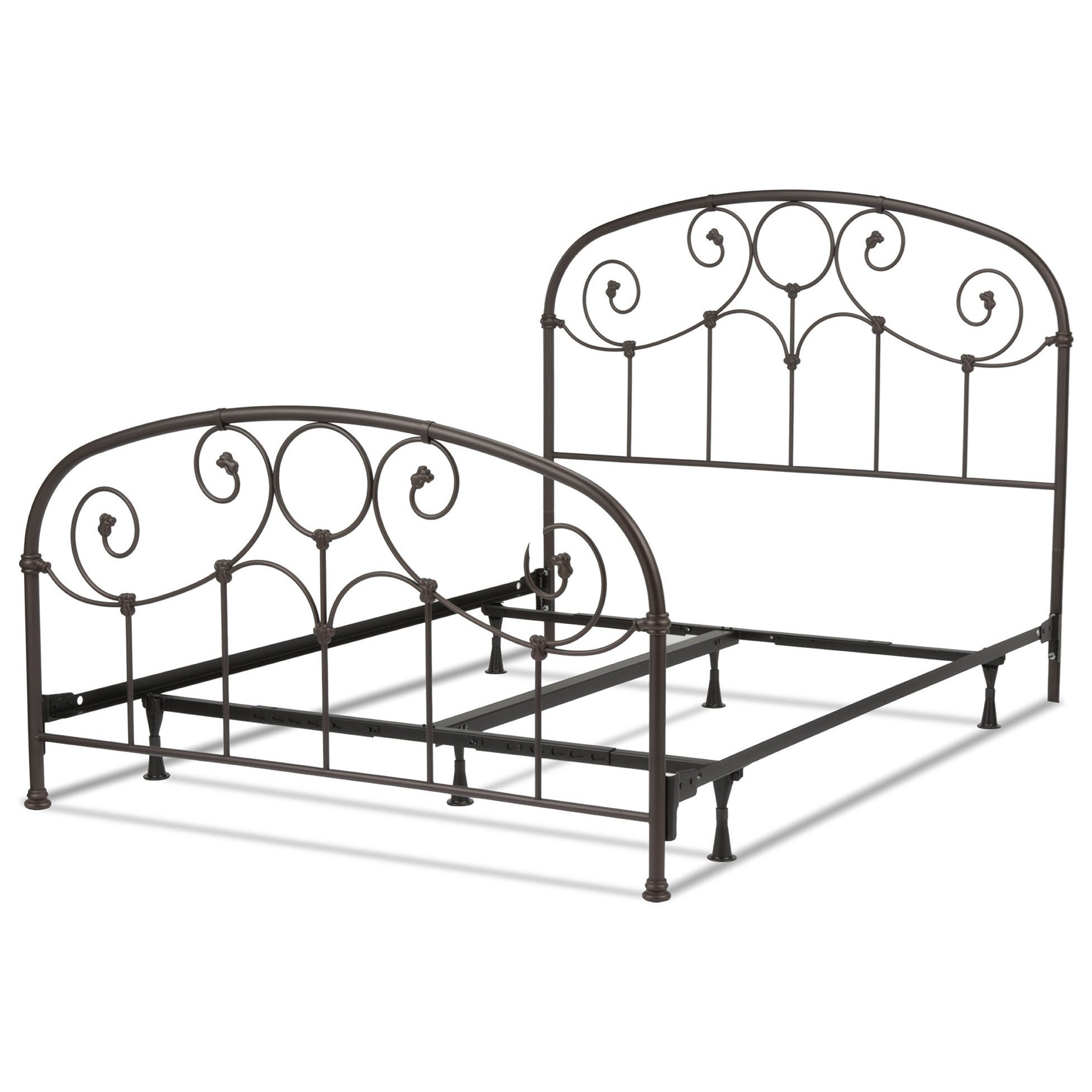 fashion bed group metal beds queen grafton metal bed with frame item number b41335 - Metal Frame Bed Queen