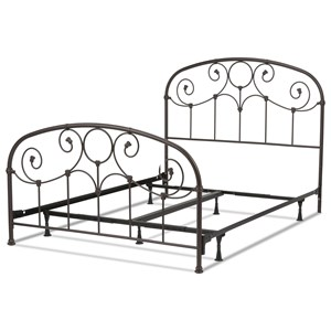 Fashion Bed Group Metal Beds Cal King Metal Ornamental Bed