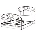 Morris Home Furnishings Metal Beds Cal King Metal Ornamental Bed - Item Number: B41337
