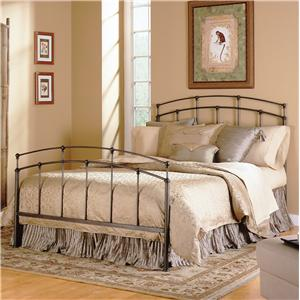 Morris Home Furnishings Metal Beds Queen Fenton Metal Bed with Frame