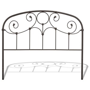 Morris Home Metal Beds California King Grafton Metal Headboard